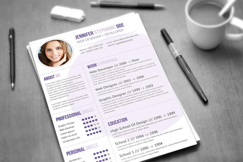 Bạn cũng có thể thiết kế mẫu CV và đơn xin việc tiếng anh bằng đồ họa ấn tượng