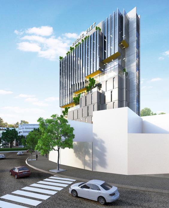 Tòa nhà ĐƯỜNG VIỆT (Ngã 5 Duy Tân, Cổng Sân Bay TP Đà Nẵng)